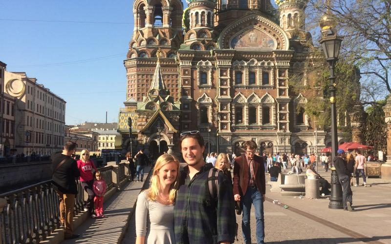 Lehigh University International Relations - Benjamin Mattern in St. Petersburg, Russia